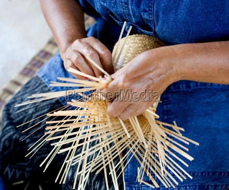 traditionell bambus handgemacht althergebracht ueberliefert herkoemmlich