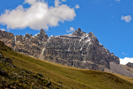 massif in the andean highlands in
