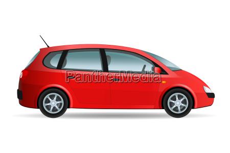 red minivan