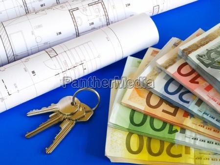 euro banknoten und plaene