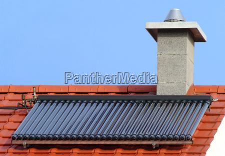 thermische solaranlage roehrenkollektor