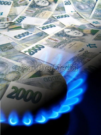 money and gas stove czech