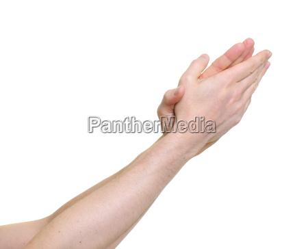 klatschen die applaus geben ueber einem