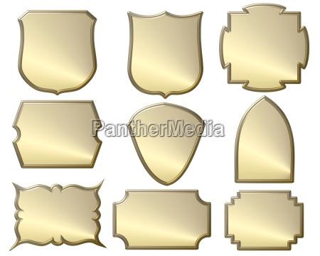 goldene wappen