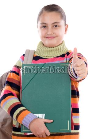 rucksack student studentin schnellhefter kursteilnehmer faltmappe