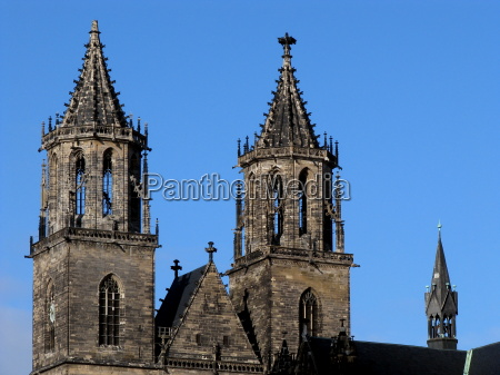 towers of magdeburg cathedral