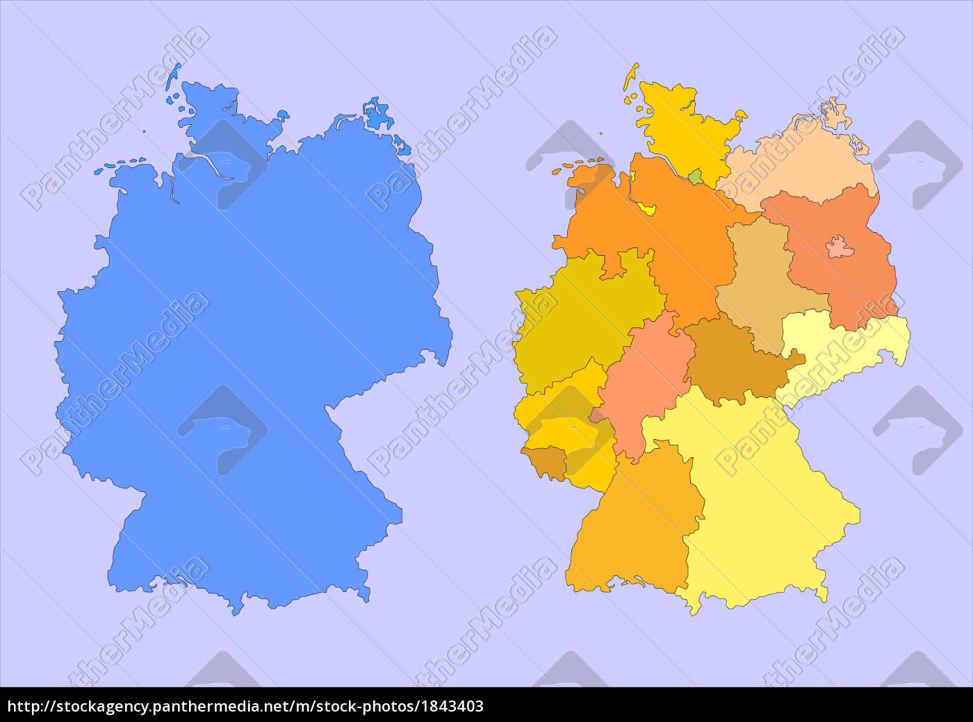 Lizenzfreies Bild 1843403 Deutschland Karte Landkarte Bundesländer
