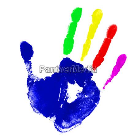 multicolor hand