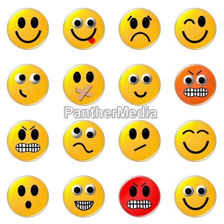 smileys button