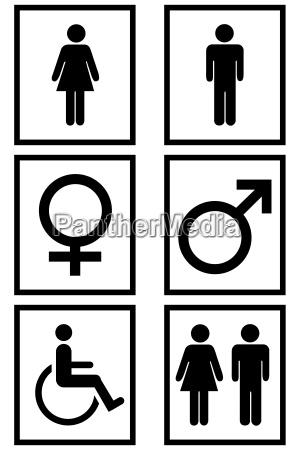 geschlechts zeichen