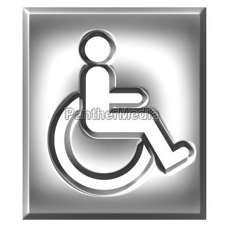 3d silber special needs zeichen