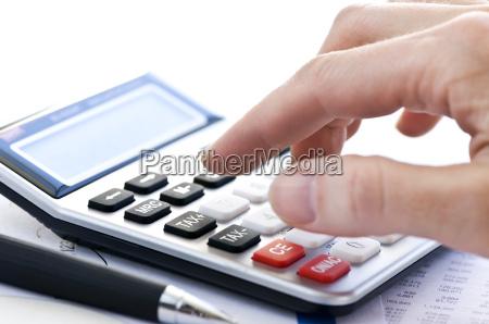 steuerrechner und stift