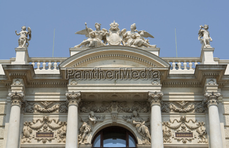 detail of the vienna burgtheater