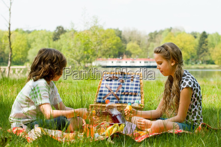 enjoying our picnic