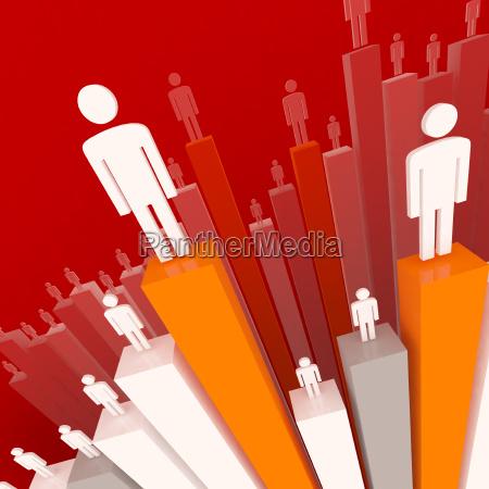 business team stat hintergrund