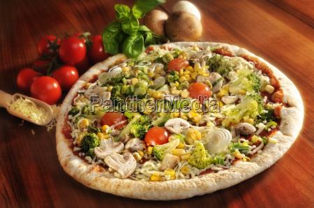 pizza, belegt, mit, gemüse - 1965813