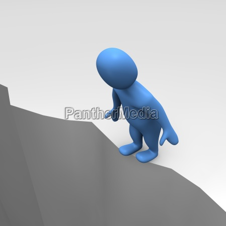 man at sheer cliff