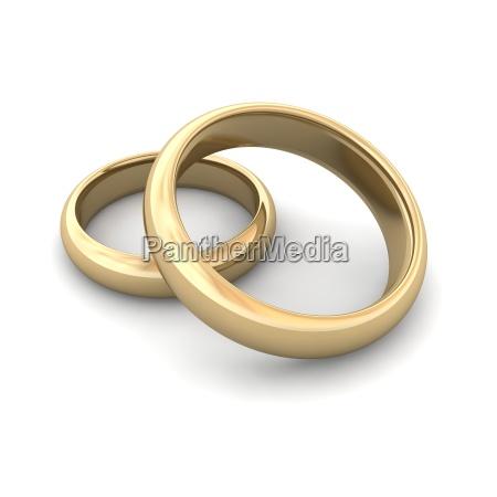 Goldene Hochzeit Ringe Stockfoto 1970517 Bildagentur Panthermedia