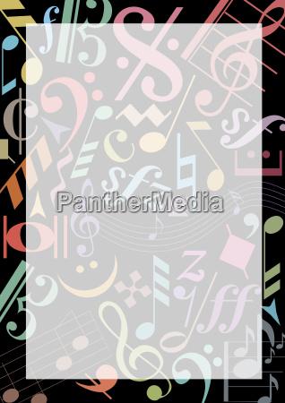 hintergrund aus farbigen musiknoten
