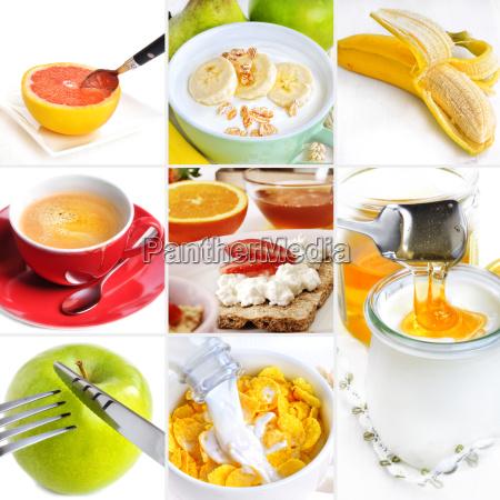 gesundes fruehstueck collage