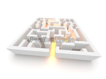 weg durch das labyrinth 3d imag