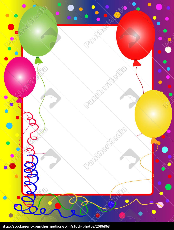 Geburtstagskarte Rahmen - Stockfoto - #2086863 - Bildagentur ...