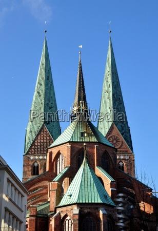luebeck marienkirche rueckansicht