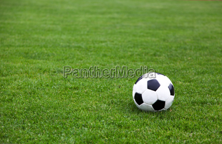 fussball auf feld stadion