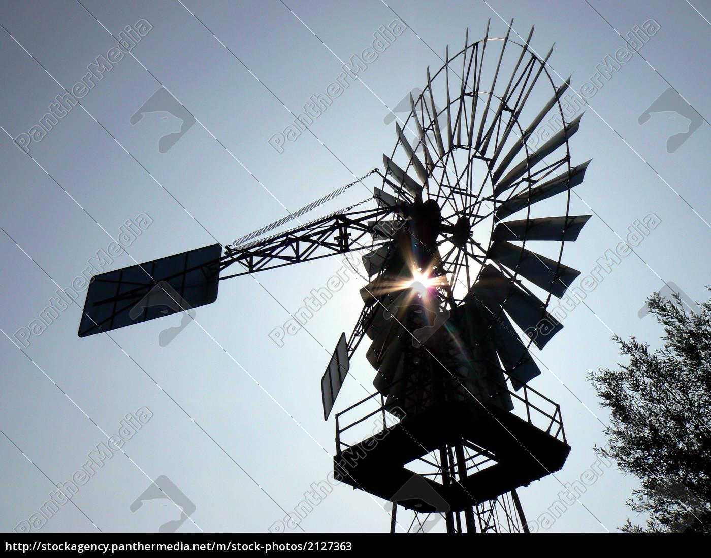 windschöpfwerk, lobbe, im, gegenlicht - 2127363