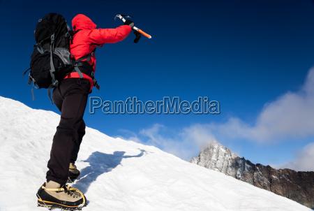 reaching the summit