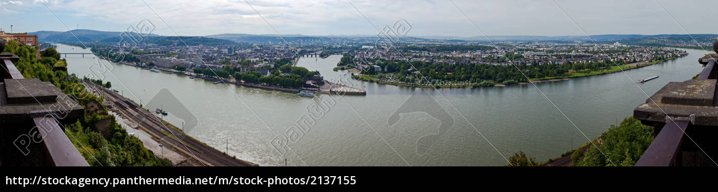 deutsches, eck, panorama - 2137155