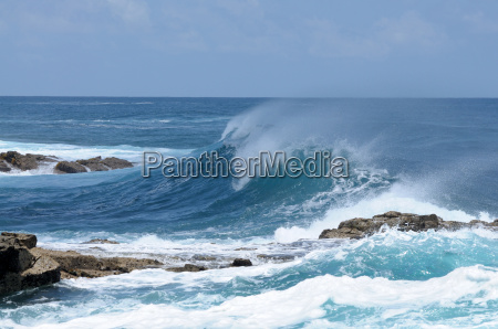 welle an der atlantikkueste fuerteventura