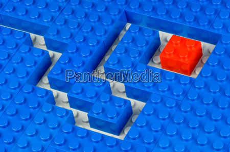 nubs cubes red and blue