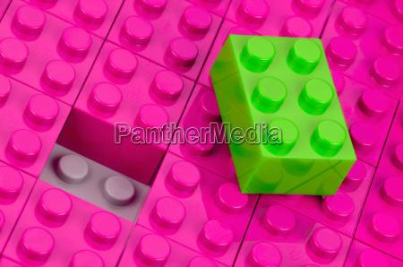 neon non matching blocks