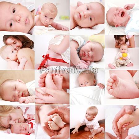 baby und schwangerschaft collage