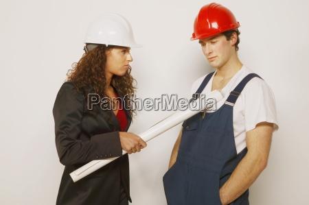 supervisor und handwerker
