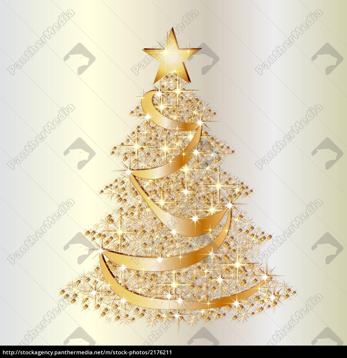 Goldener Weihnachtsbaum goldener weihnachtsbaum auf perlfarbenem hintergrund