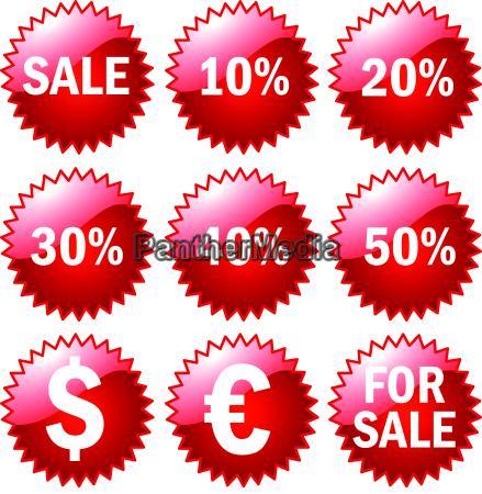 sale buttons