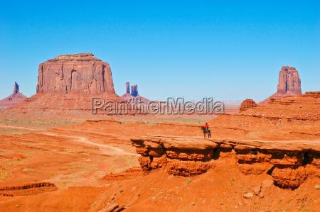 indianer im monument valley