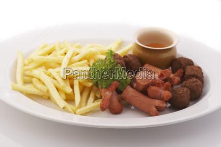 franzoesisch frites und frikadellen