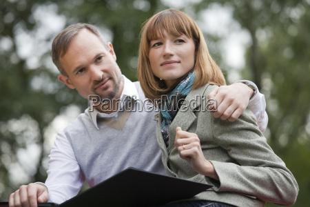 romantic couple with fotoalbum