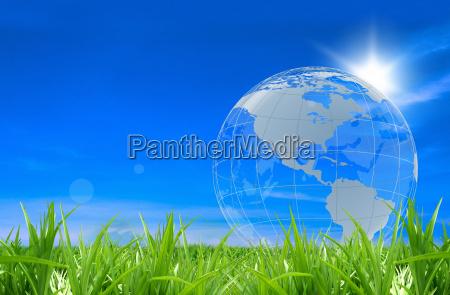 globe in ein gefuehl von gras