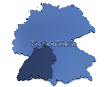 map of germany baden wuerttember