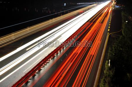 autobahn nachts