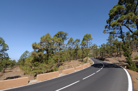 mountain road in tenerife spain