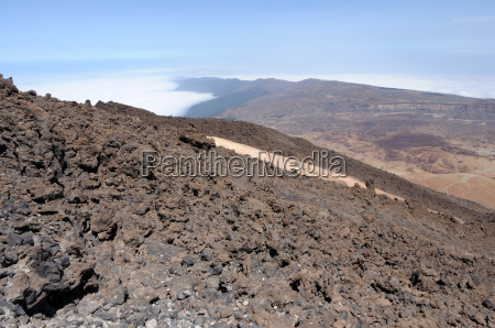 view from the volcano teide tenerife