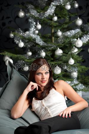 sexy woman on christmas