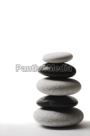 yin yang pebble stack