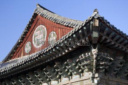 roof of a house south korea