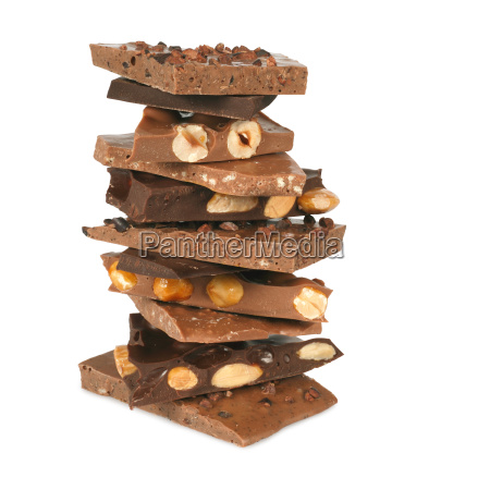 schokoladen stapel